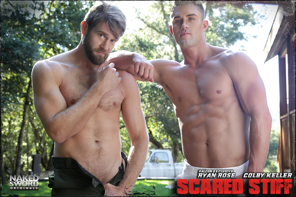 Colby keller and ryan rose in scared stiff at naked sword